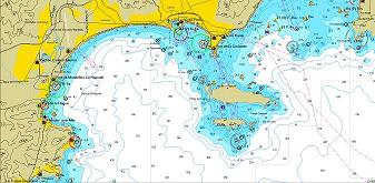 mandelieu sea chart small
